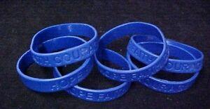 Dark Blue Awareness Bracelets 12 Piece Lot Silicone Wristband Cancer Cause New Ebay