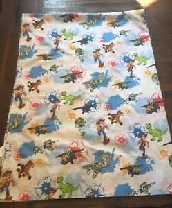 Toy Story Crib Or Toddler Bed Flat Sheet Buzz Lightyear ...