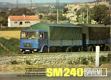 Saviem SM 240 Truck 1968-69 French Market Foldout Sales Brochure N L XL UL