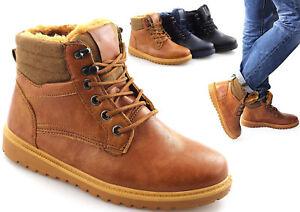 sports shoes 52b8e e5d53 Details zu Herren Winter Boots Schuhe Winterschuhe Stiefel Outdoor warm  gefüttert Männer C7