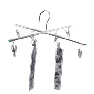 Darkroom Film Negative Drying Hanging Rack Frame Hanger 20 Clips for 35mm 120 4x5 Film