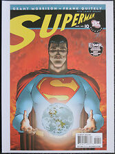 SUPERMAN REPRO POSTER . ISSUE #10 FRANK QUITELY 2008 FRONT COVER . DC COMICS D98