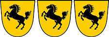 3 x Mini Aufkleber Stuttgart Wappen Pferd Auto Fahrrad car Sticker Autoaufkleber