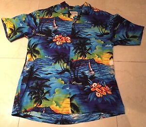 Royal-Hawaiian-Creations-Aloha-Rockabilly-VLV-Mens-Size-Large-Shirt