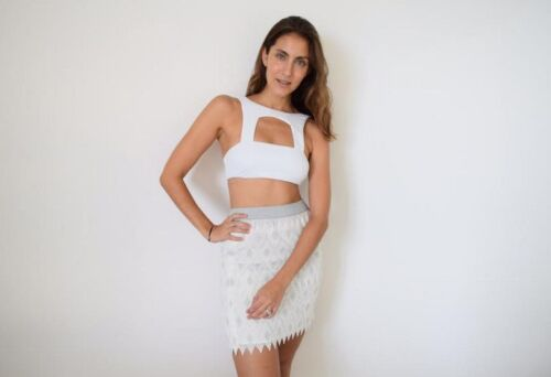 NEW Free People White High Neck Cutout Bandeau Oliver Top Size XS S M L $135