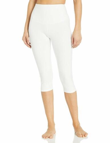 US Large Yummie WHITE Talia Capri Cotton Stretch Shaping Legging
