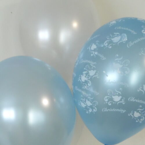 DIY Party Decoration Kit Clusters For  5-15 Tables Christening Boy Balloons