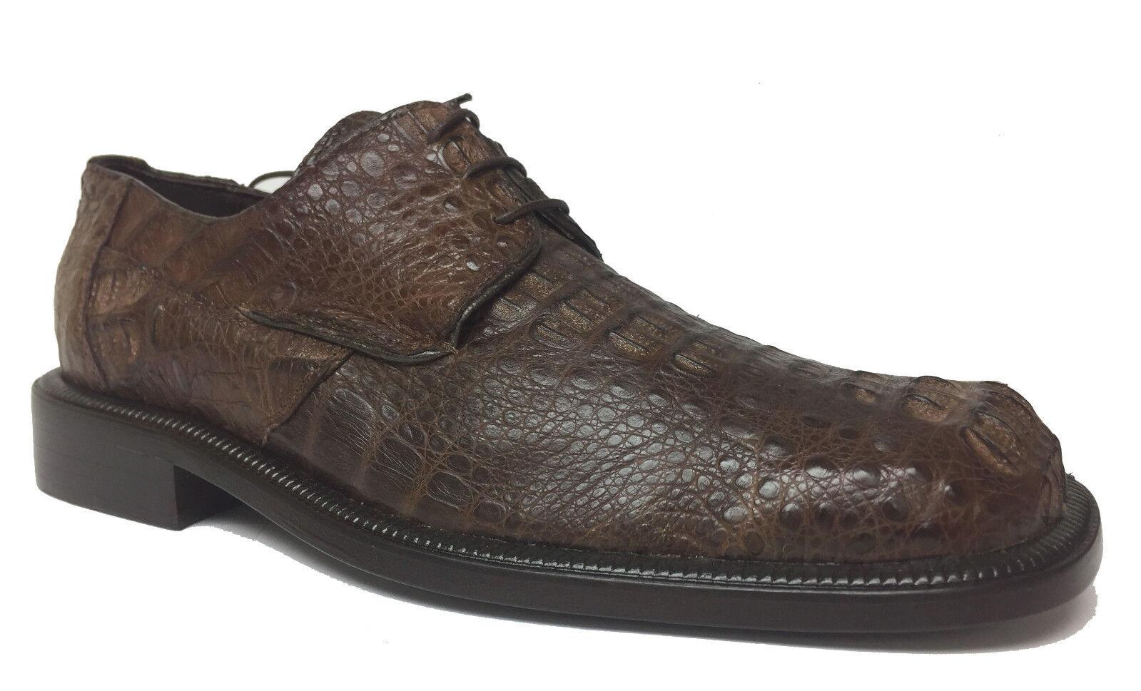 New Uomo Chocolate marrone Genuine Crocodile Alligator Dress Scarpe Fashion Oxford