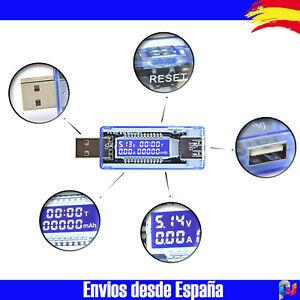 Detector-Medidor-de-Carga-Baterias-USB-KEWEISI-Voltimetro-Amperimetro-Portatil