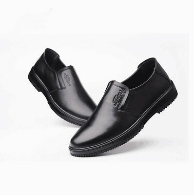 Men S Restaurant Oil Resistant Kitchen Work Shoes Loafer Slip On Skid Non Slip Ebay