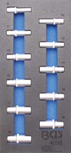 BGS 4058 1//3 Werkstattwageneinlage: Steckschlüssel-Einsätze  10 t 3//8 6-Kant