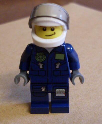 Lego Figur Polizist Polizei Figuren blau mit Helm Helikopter Pilot City Town Neu