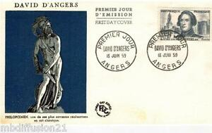 1959-ENVELOPPE-FDC-1-JOUR-DAVID-D-039-ANGERS-TIMBRE-Y-T-N-1210
