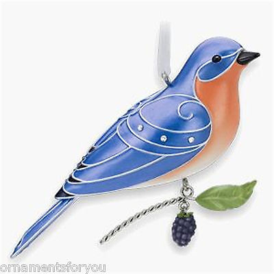 Hallmark 2010 Eastern Bluebird Beauty of Birds Series Crease in Box