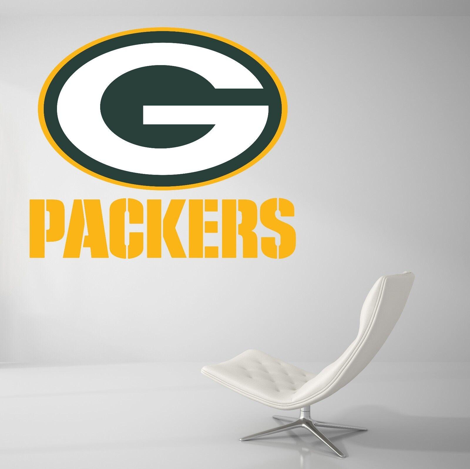 verdebay Packers Nfl Fútbol Sala De Decoración De Parojo Calcomanía Vinilo Arte Pegatina De Coche J42