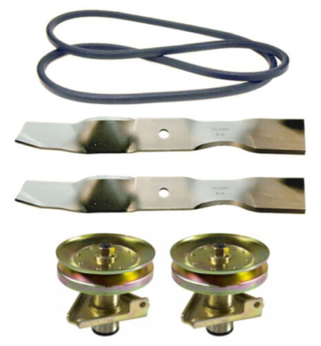 "John Deere Sabre 38/"" Mower Deck Rebuild Kit Spindles Blades Belt FREE Shipping"