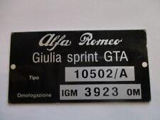 Typenschild Alfa Romeo schild ID-plate 10502/A bertone giulia sprint GTA s13