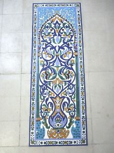 "24"" x 66"" Hand painted Ceramic tile art panel Mosaic wall ..."