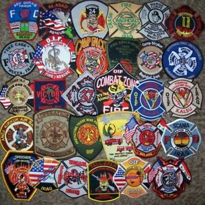 """*CLEARANCE*  Set # 4-10 Total Fire Patch Set  /""""NO DUPLICATES IN SET/"""""""