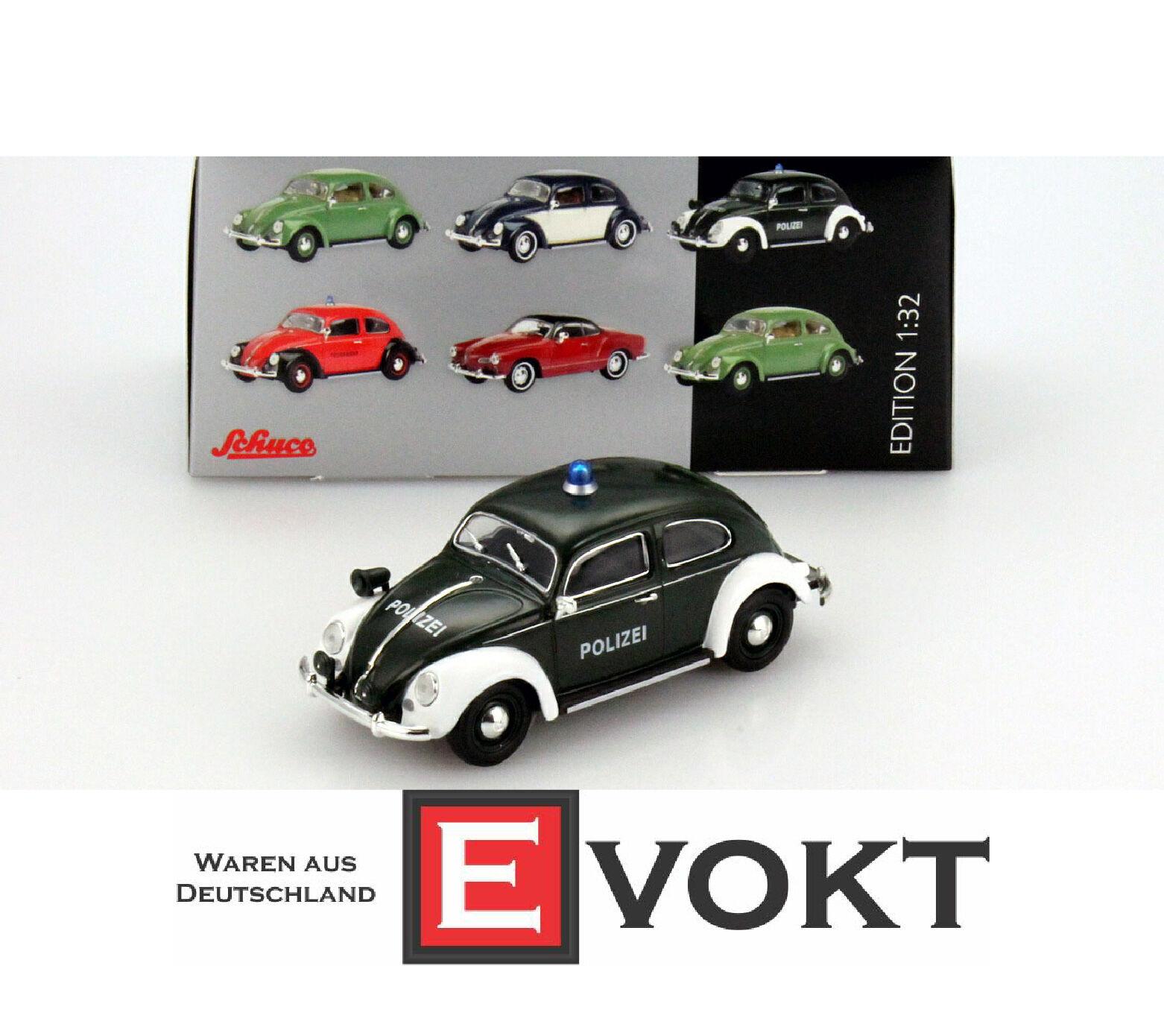 Schuco 450773700 VW Beetle policía (132) NUEVO con OVP