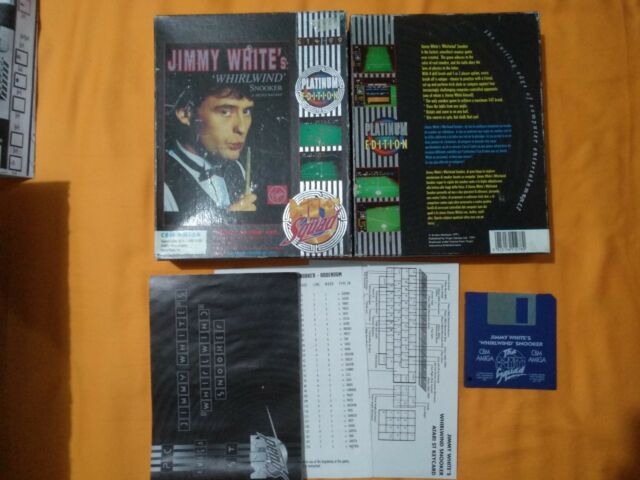 Jimmy White's Whirlwind Snooker Game for Commodore Amiga Computer tested&working