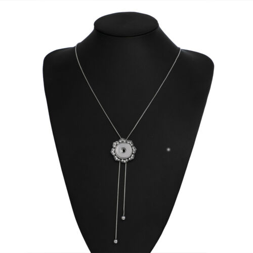 Fashion Women Necklace Pendant Pull Closure Drill Fit Noosa Snap Button N214