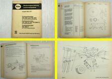 Fella KM 210F Kreiselmähwerk Bedienungsanleitung Ersatzteilliste 1981