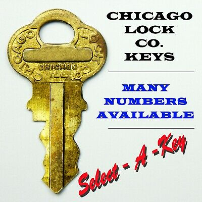 Many Numbers Available #2100 to 2200 Vending Keys Vintage Chicago Lock Co