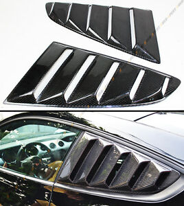 For-Ford-Mustang-15-2020-GT-Carbon-Fiber-Side-Window-Quarter-Scoop-Louver-Cover