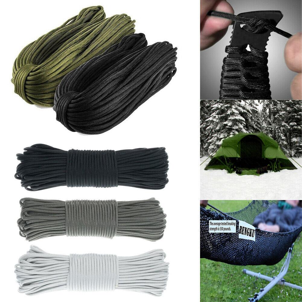 550lb 7 Strands Umbrella Paracord Rope Parachute Bushcraft Survival Cord Camping