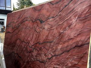 Details Zu Arbeitsplatte Quarzit Naturstein Rot Kuchenarbeitsplatte Steinplatte Tischplatte