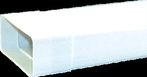 1m TUBO DI SCARICO CON MANICOTTO piatto bianco per 150er sistema di condotti di scarico per cappe aspiranti