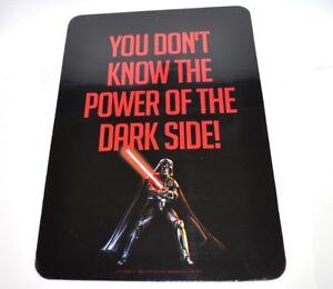Star-Wars-USA-Wandbild-Tafel-Wall-Sign-Darth-Vader-Power-of-Darkside-Motiv