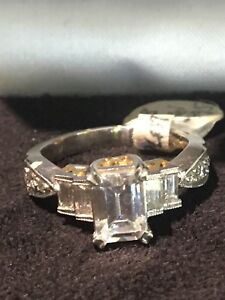 Tacori Engagement Semi Mount Platinum 22kt Emerald Cut Diamonds Tcw 61ct Ebay