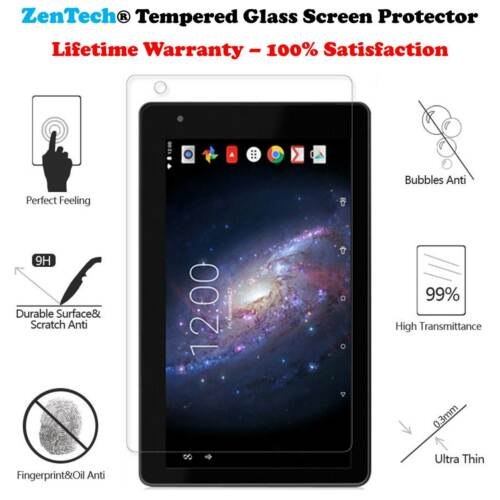 RCT6773W22B ZenTech Tempered Glass Screen Protector Saver For RCA Voyager II 7