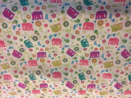 Per metre of Elephants patterned fabric PolyCotton