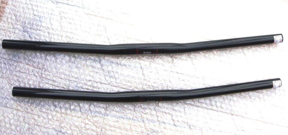 Ultra Leicht voll Carbon MTB Lenker 25,4mm  mit Lange Lange Lange 580-660mm nur ca. 100g 8c80ab