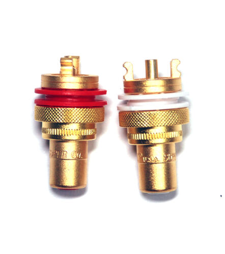 10pair RCA Jack Audio Female Gold Plated Connector CMC 805-2.5FG USA Cu