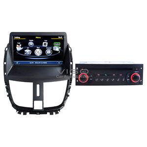 autoradio dvd player for peugeot 207 gps navigation satnav nav stereo head unit ebay. Black Bedroom Furniture Sets. Home Design Ideas