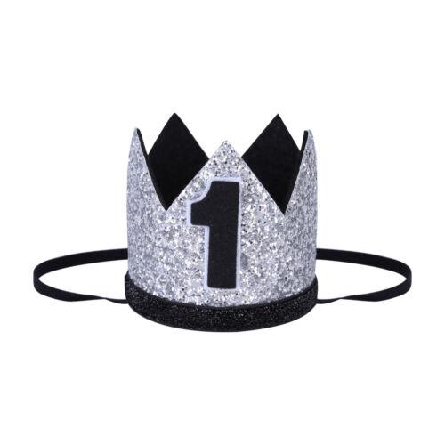 Baby Boy Girl Crown 1st Birthday Party Hat Headband Hairband Fishtail Head Wear