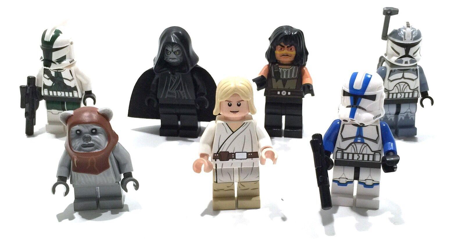 • • • 7 LEGO STAR WARS FIGUREN • • •