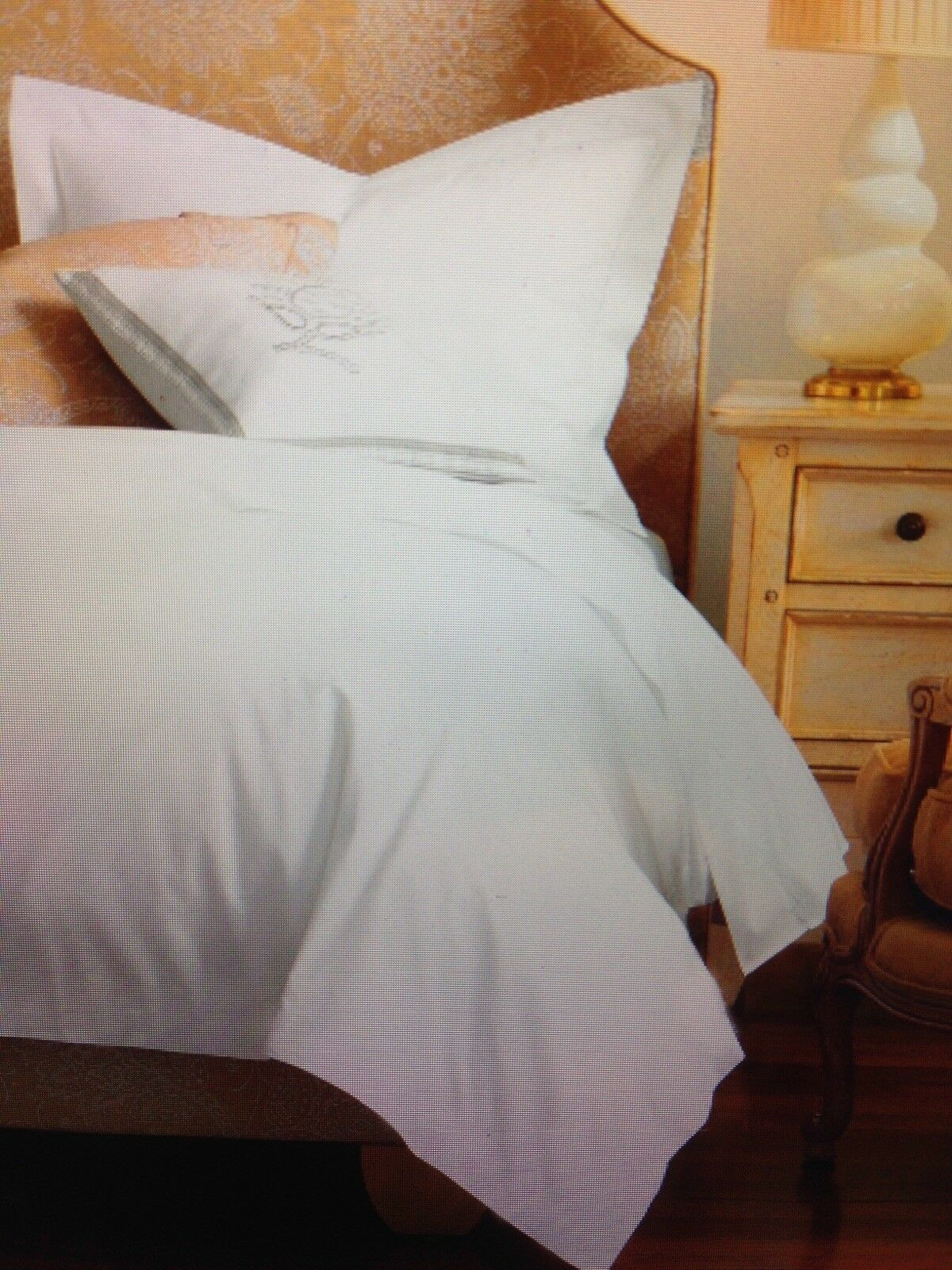 Twin Size Duvet Cover, White, 100% certified organic cotton, FREE SHIPPING