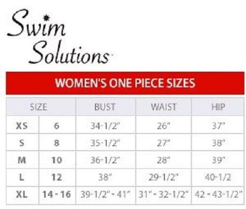 Swim Solutions Size 8 Sundial Starburst Long Long Long Torso 1 Piece blue Swimsuit NWT  109 394009