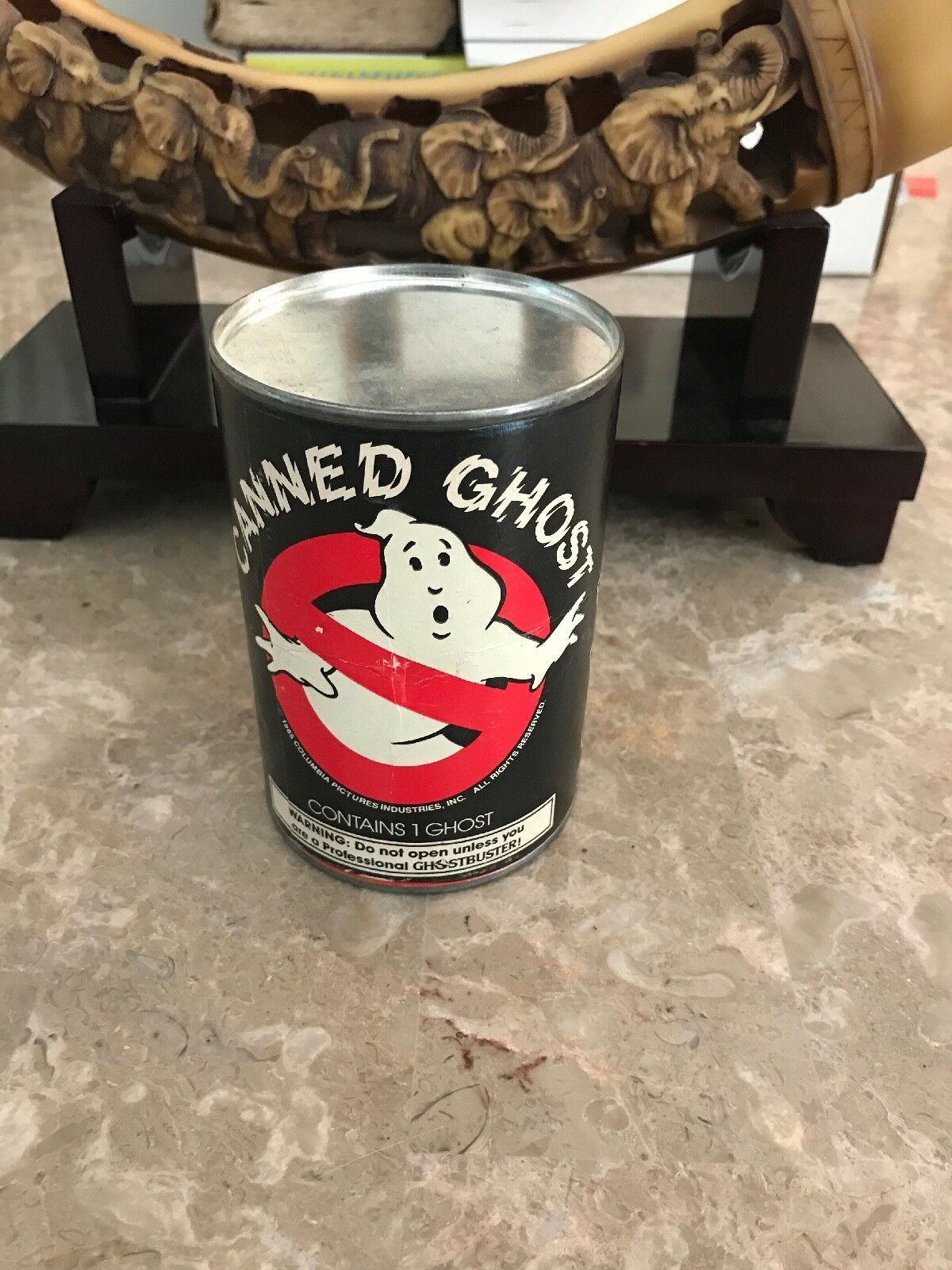 Ghostbusters Canned Ghost 1985 Glows In The Dark Sealed