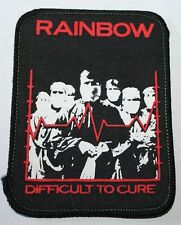 Rainbow, Difficult to Cure, printed Patch Vintage 70's / 80's, rar, rare