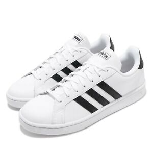 reputable site e5a6c 1e294 Image is loading adidas-Grand-Court-White-Black-Men-Classic-Casual-