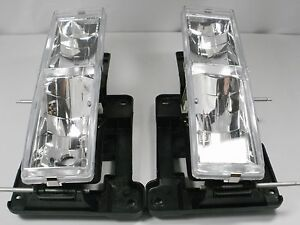 Chevy-Silverado-C1500-K2500-Tahoe-GMC-Sierra-Par-Faros-Transparente-1989-1997