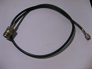 Coaxial-Patch-Cable-RG-58-U-Mini-UHF-to-N-Female-25-034-approx-USED-Qty-1