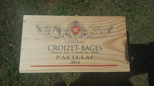 MARKED SECONDS 6 BOTTLE SIZE FRENCH WOODEN WINE CRATE BOX HAMPER STORAGE..