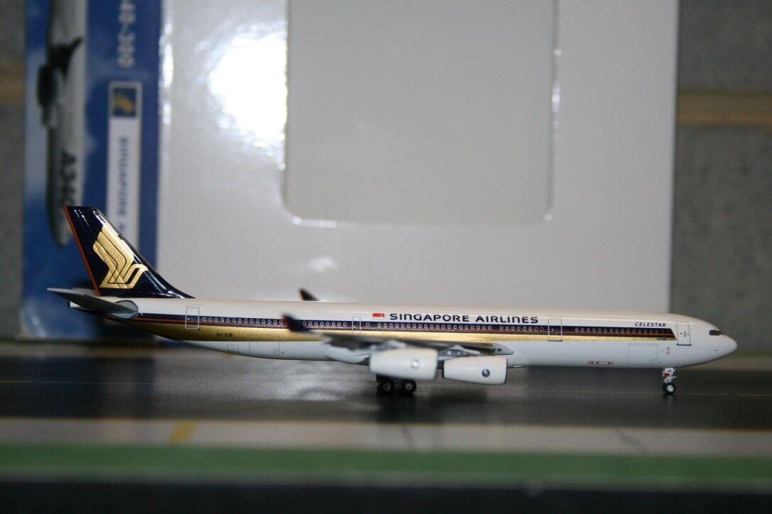 Ahorre 60% de descuento y envío rápido a todo el mundo. Aeroclassics 1 400 Singapore Airlines Airlines Airlines Airbus A340-300 9V-SJB (CA 9 vsjb) CeleEstrella  n ° 1 en línea